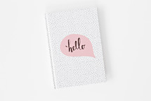 hello journal cover
