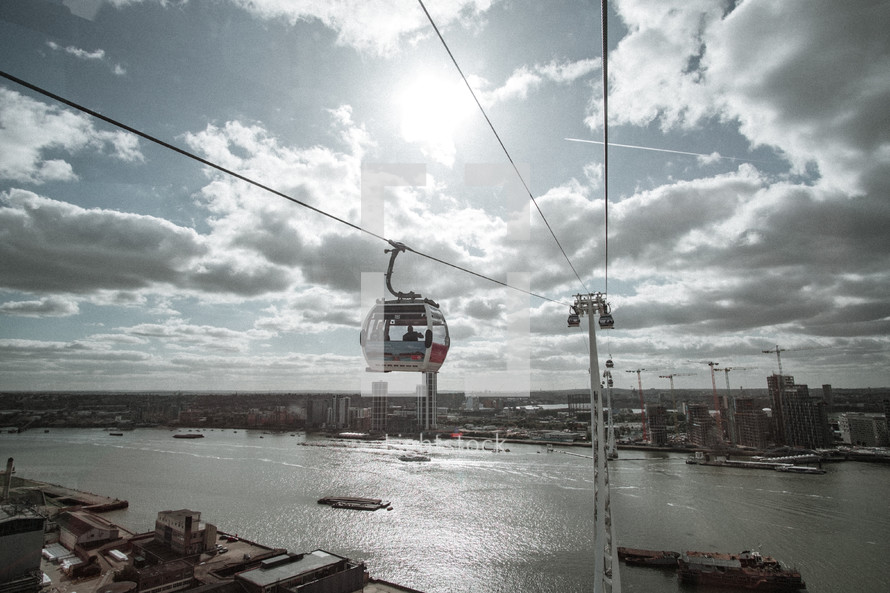 sky cable cars in London