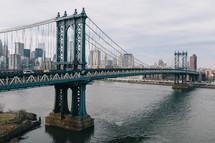 city bridge over a river
