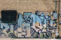 graffiti on a city wall