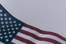 Close-up of an American flag.