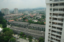 high rise apartment building in a city
