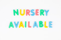 Nursery Available