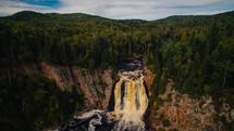 a muddy waterfall