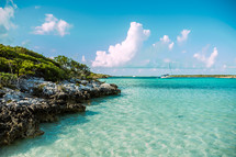 shoreline and turquoise water