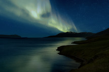 aurora borealis in the sky at night