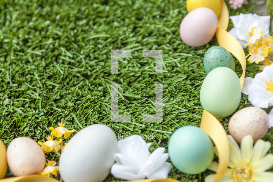 Easter Background with Copy Space