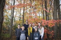 family photo outdoors in fall