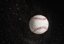 baseball in rain