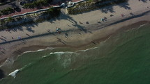 Cinematic Rotating Aerial Top-Down 4K View of Fort Lauderdale Beach in Sunny Florida