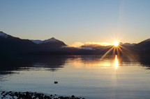 Te Anau at sunset