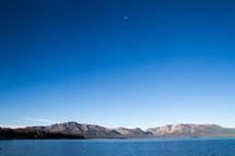 Moon over Lake Tahoe, California