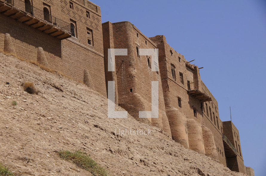 City walls of the longest inhabited city in the world. Erbil, Kurdistan, Iraq