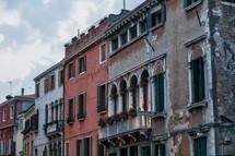 terraces on buildings in Venice