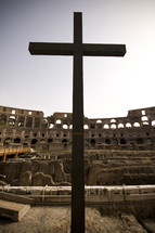 cross in Coliseum in Rome