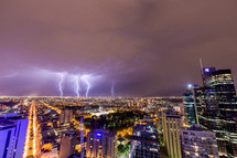 lightning over Melbourne