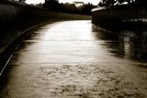 wet sidewalk after the rain