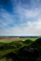 Green hills in Israel