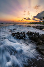 Kauai shore at sunrise