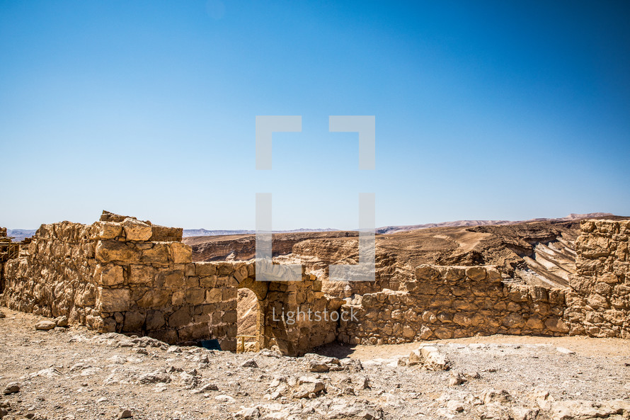 ruins in the holy land