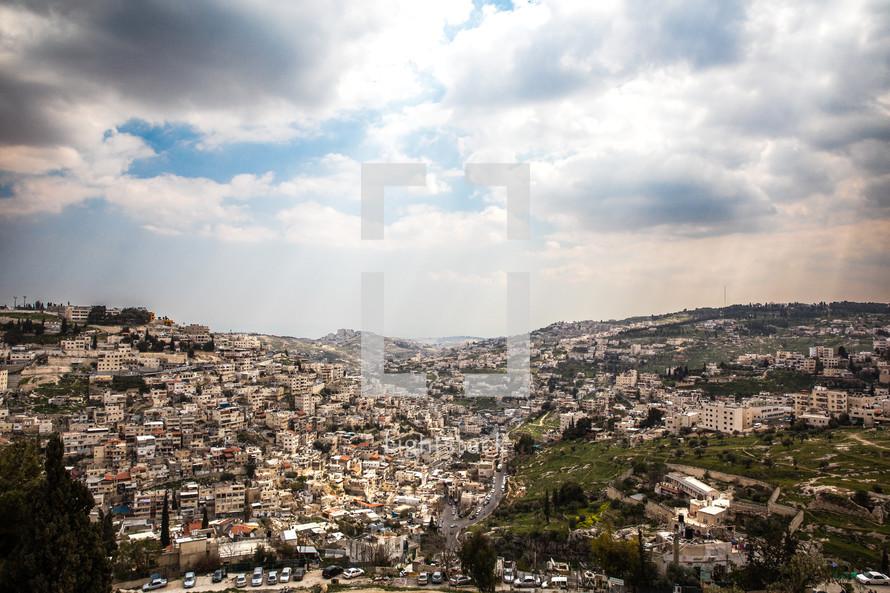 view of Jerusalem suburbs
