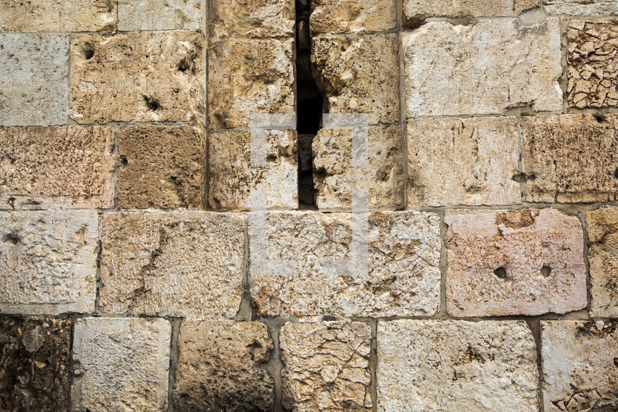 cracks in the western wall