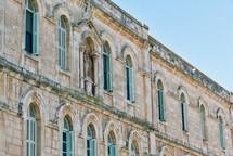 exterior windows on a historic building