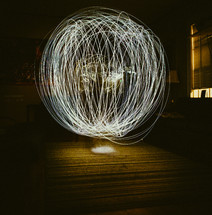 ball of swirling lights