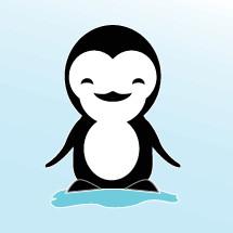 Smiling penguin.