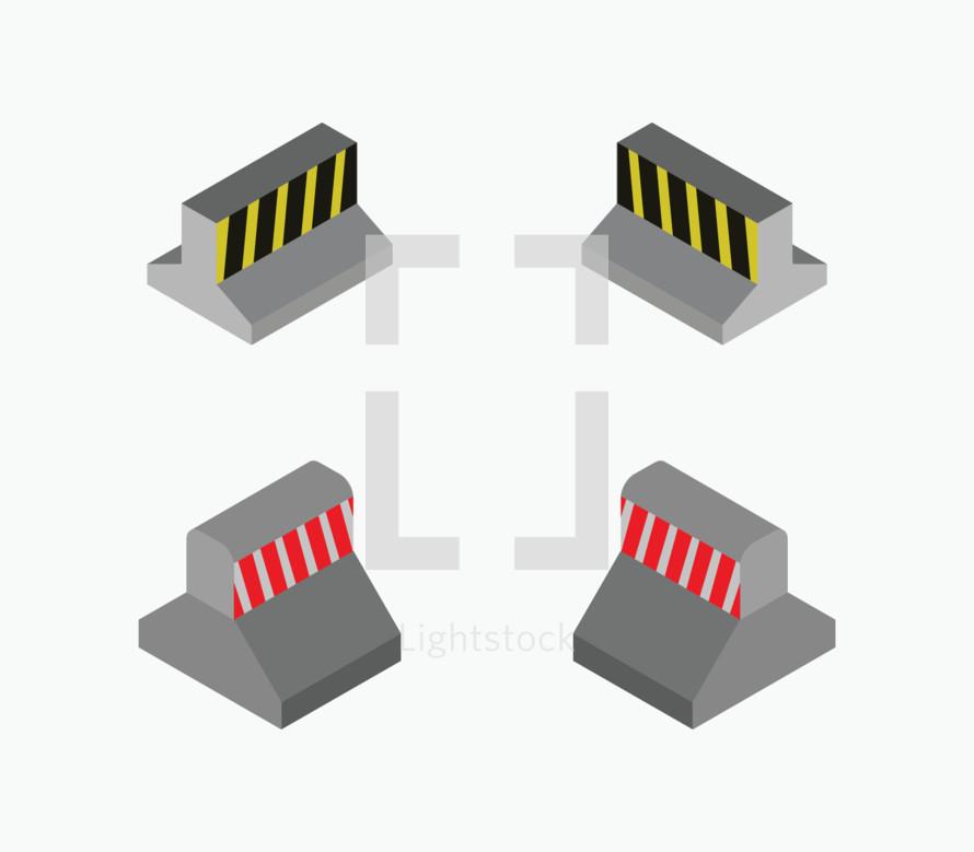 concrete barriers
