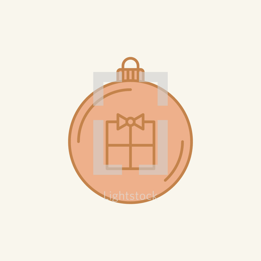 Christmas ornament with gift