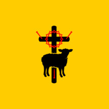 Christian symbols. Symbols of Jesus Christ are a cross, a crown of thorns, a sacrificial lamb and a shepherd's staff.