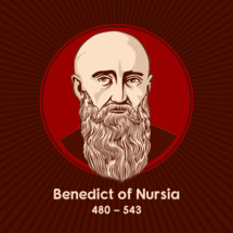 """Benedict of Nursia (480-543) is a Christian saint venerated in the Catholic Church, the Eastern Orthodox Church. Benedict's main achievement, his """"Rule of Saint Benedict"""", contains a set of rules for his monks to follow."""