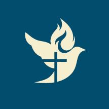 cross silhouette in a dove