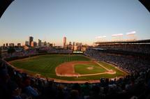 crowd at a baseball stadium