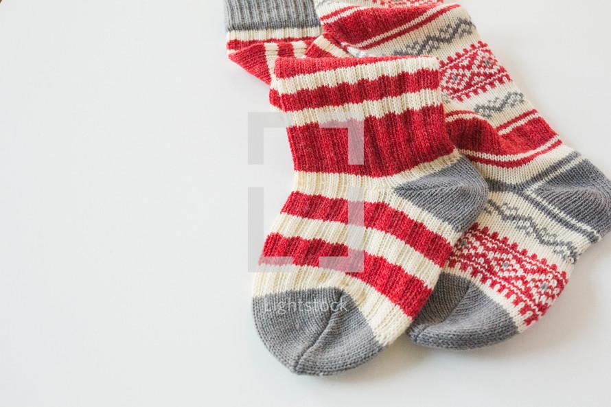 Christmas knit stockings