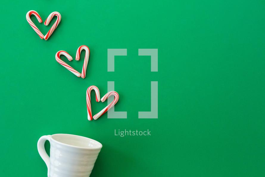 candy canes and mug