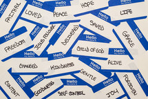 name tags of emotions
