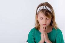 Girl praying.