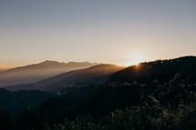 mountains at sunrise