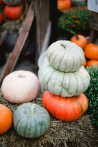 stacked pumpkins