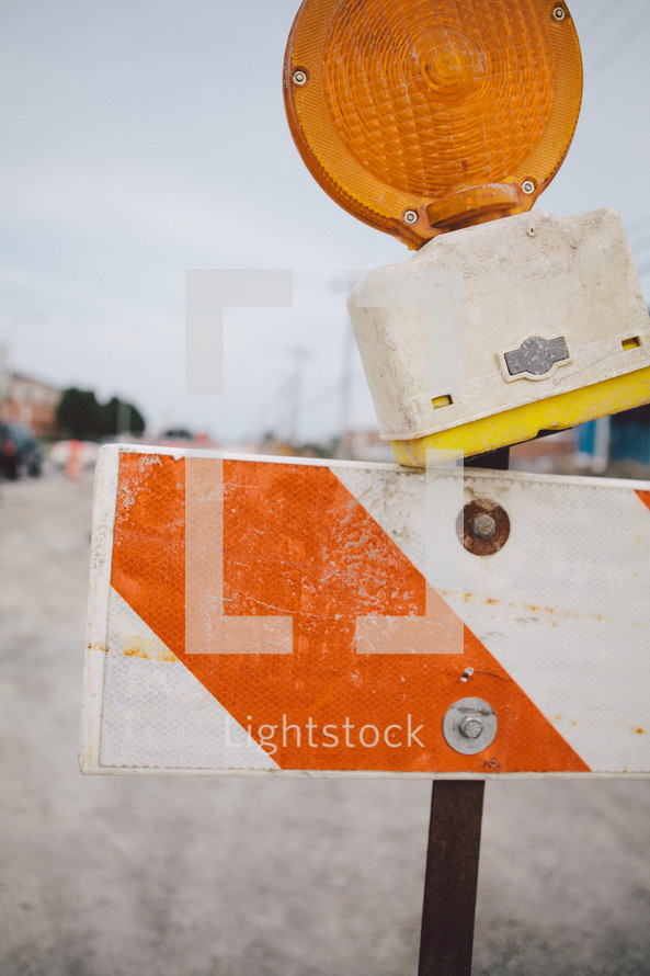 road closed caution sign