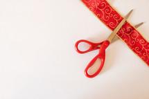 cutting ribbon