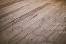 Wooden plank floor.