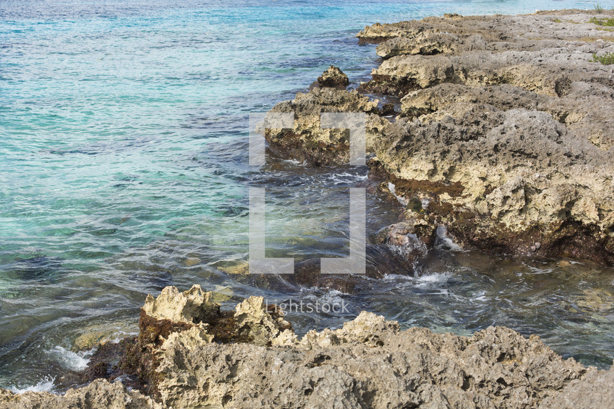Caribbean Sea Coast at Cozumel Mexico