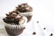 icing of chocolate cupcakes