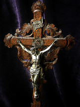 Antique hand-carved crucifix, circa 1900.