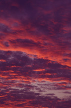 pink and purple clouds in the sky