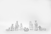 white porcelain nativity scene