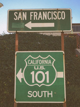 street sign pointing the way to San Francisco